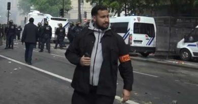 Alexandre Benalla lorsz de la manifestation du 1er mai 2018
