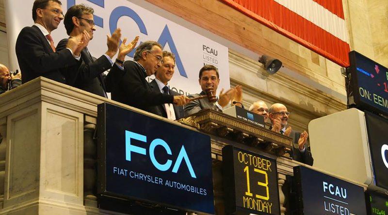 Les dirigeants de Fiat Chrsyler, lors d'une session de la bourse de New York en 2014