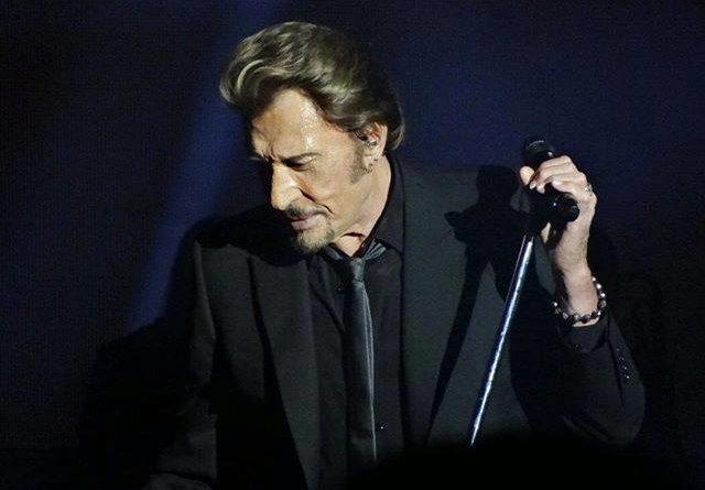 Johnny Hallyday lors d'un de ses concerts