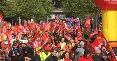 Rassemblement de la CGT devant L'UNEDIC en juin 2019