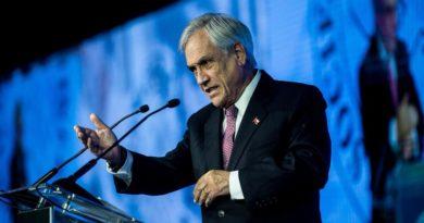 Le président chilien Sebastian Piñera, lors d'un discours en 2018