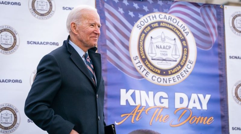 Joe Biden lors d'une conférence en Caroline du Sud, fin janvier 2020.