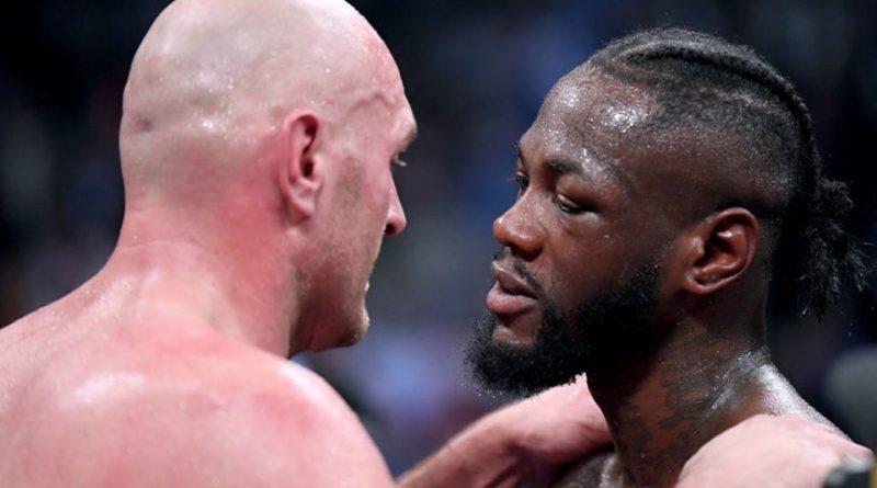 Deontay Wilder et Tyson Fury, lors de leur nul controversé le 1er décembre 2018.