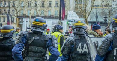 Lors de l'Acte VII de la manifestation des gilets jaunes à Paris